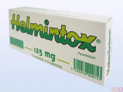 Helmintox sirop. HELMINTOX 250 mg, comprimé pelliculé sécable, boîte de 3