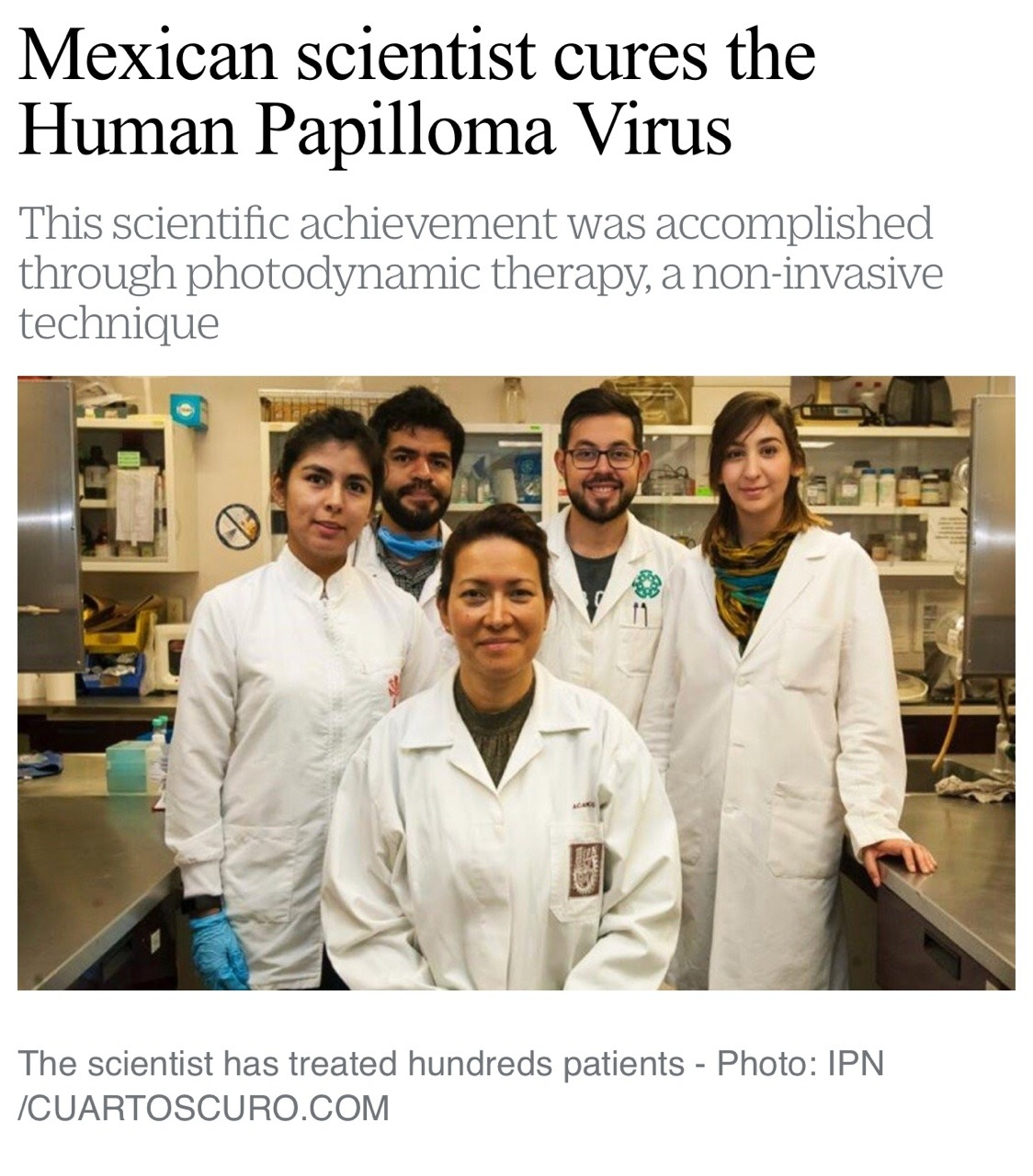 hpv cure mexican scientists