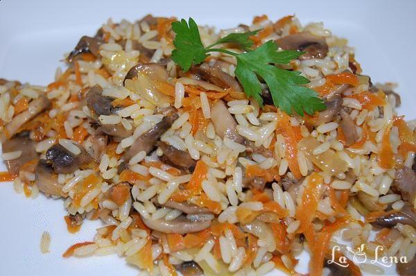 Pilaf de orez cu ciuperci, rețetă de post   Laura Laurențiu