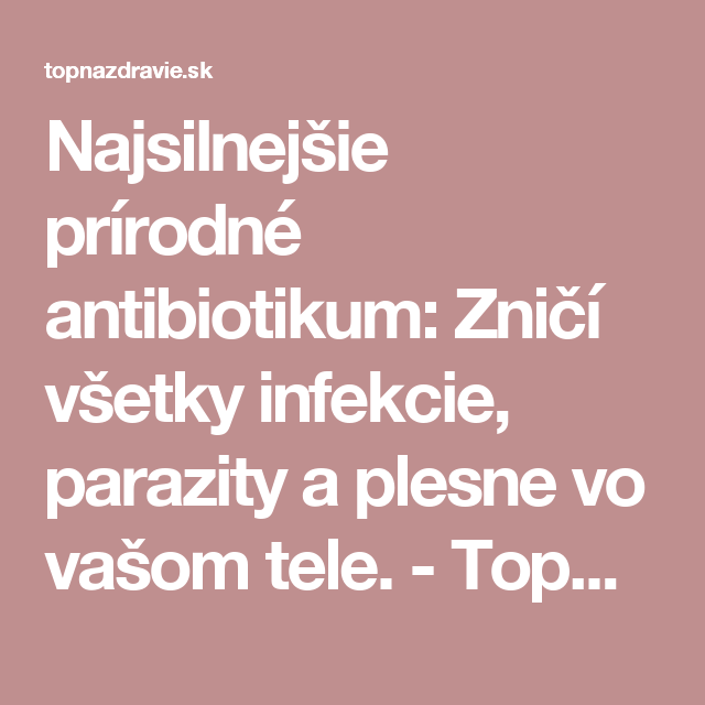 testy na parazity v tele